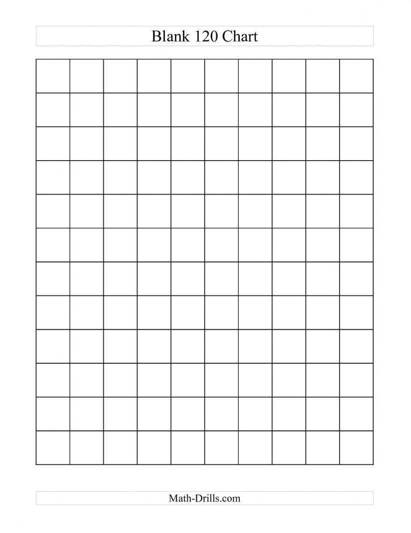 Math : Blank Hundreds Chart Blank Hundreds Chart To 50. Blank - Free Printable Blank 1 120 Chart