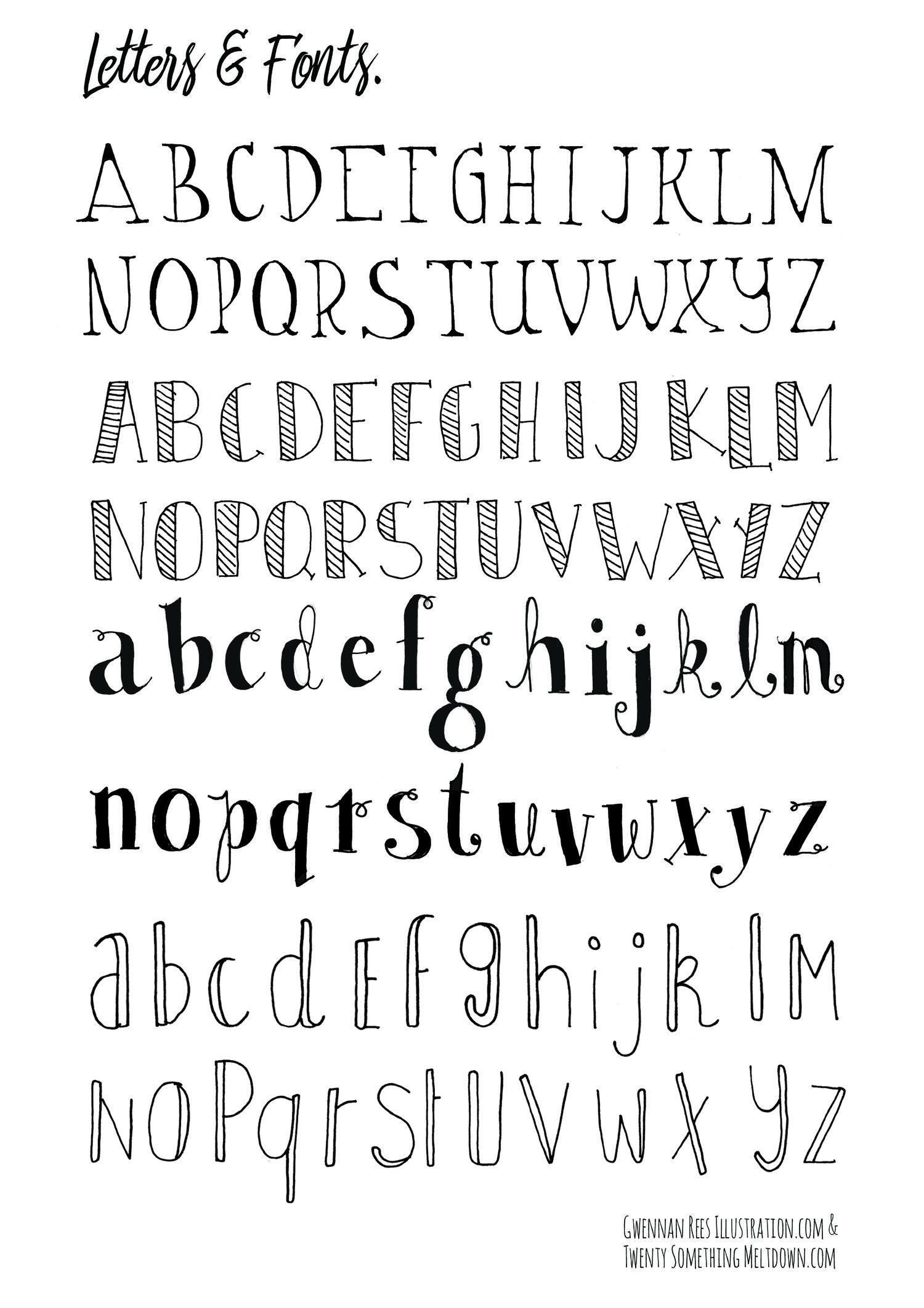 May 14 ***free*** Bullet Journal Printables. | Tekenen - Bullet - Free Printable Fonts No Download