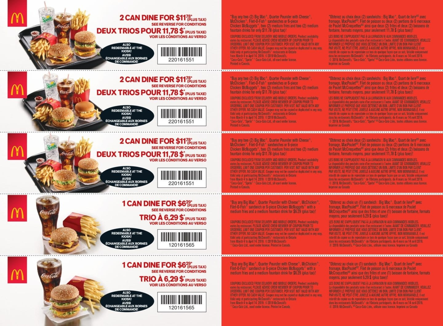 Mcdonald's Canada Deals - Buy 1 And Get 1 50% Off Breakfast Sandwich - Free Printable Coupons Ontario