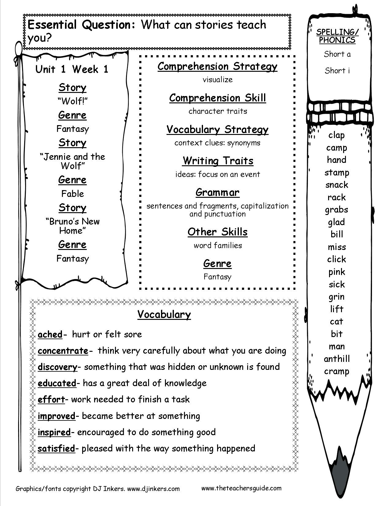 Mcgraw-Hill Wonders Third Grade Resources And Printouts - Free Teacher Resources Printables
