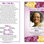 Memorial Service Programs Sample | Choose From A Variety Of Cover   Free Printable Funeral Program Template