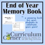 Memories Of My Year Free Printable Book For The Classroom   Free Printable Memory Book Templates