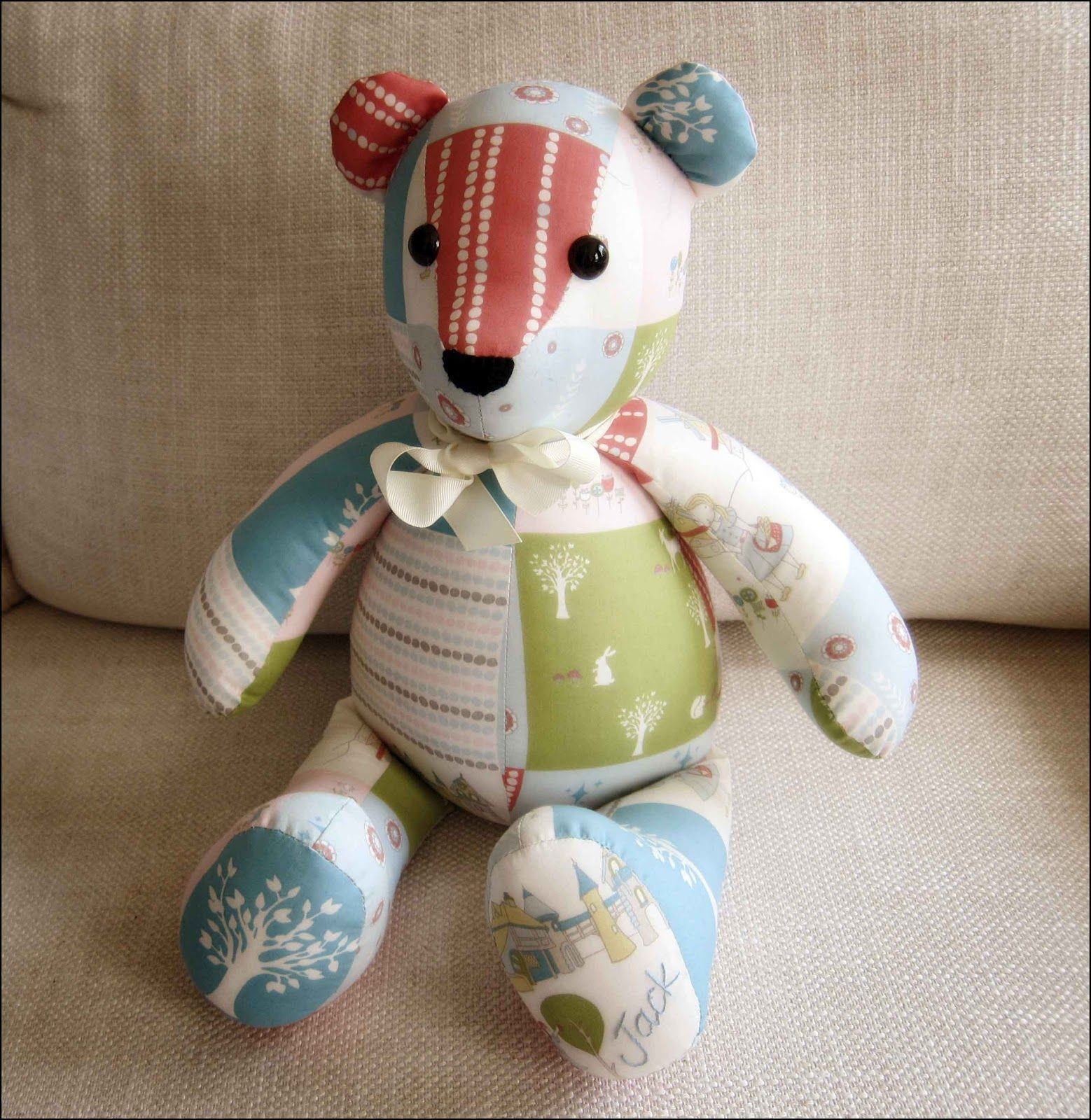 Memory Bear Pattern Free | Sewing For The Kiddlets | Teddy Bear - Free Printable Patchwork Teddy Bear Pattern