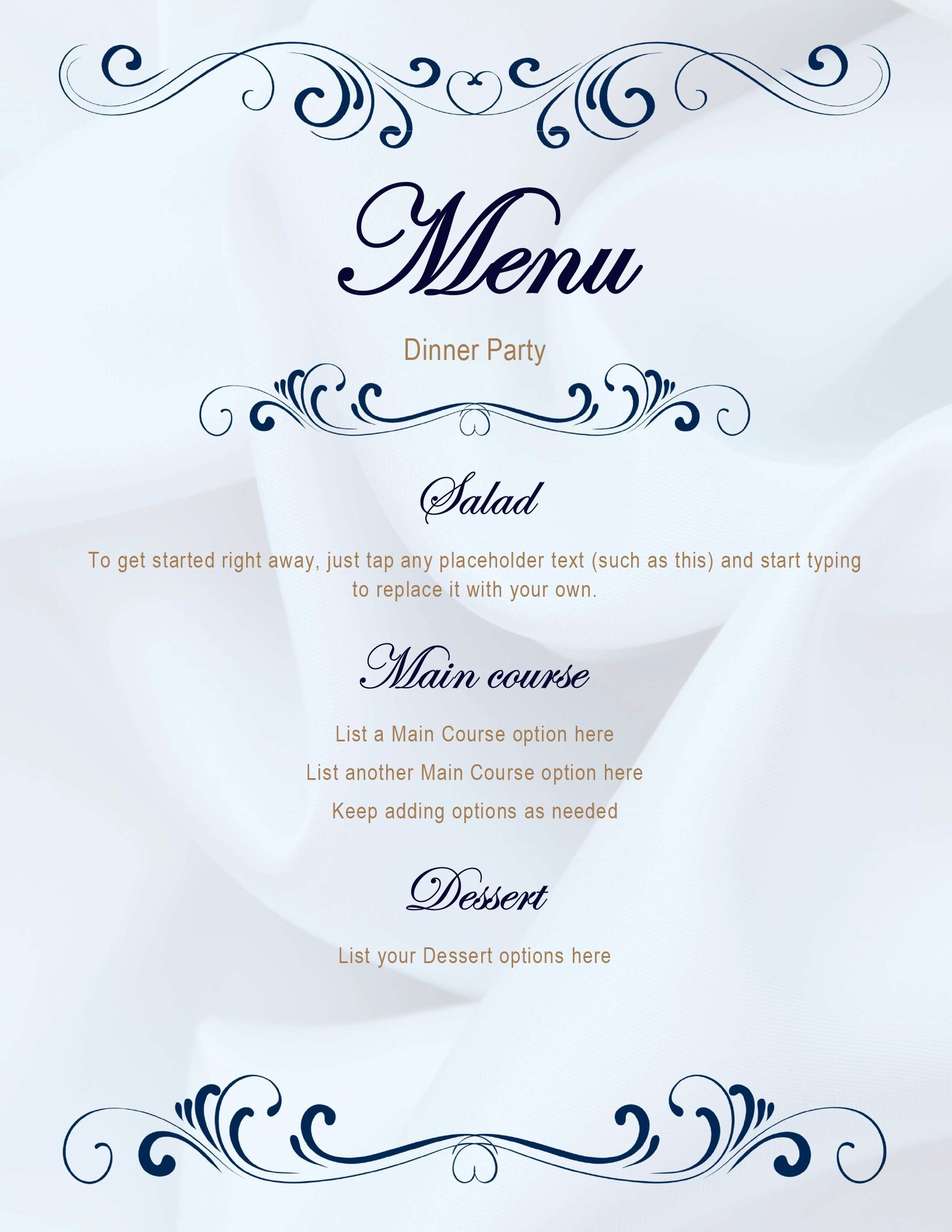 Menus - Office - Free Printable Restaurant Menu Templates