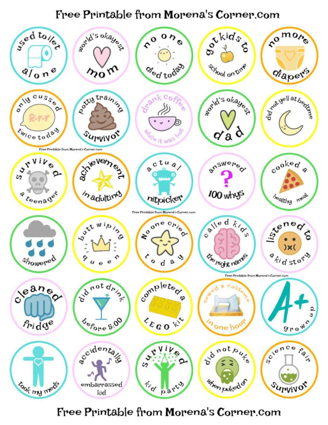 Merit Badges For Parents: Free Printable | Dollar Store Crafts - Free Printable Badges