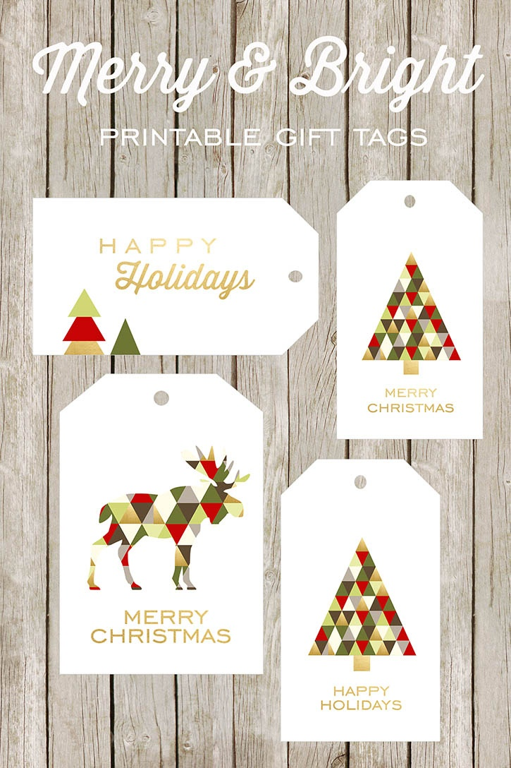 Merry And Bright Printable Gift Tags - Free Printable Christmas Gift Tags