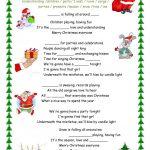 Merry Christmas Everyone Song Worksheet   Free Esl Printable   Christmas Song Lyrics Game Free Printable