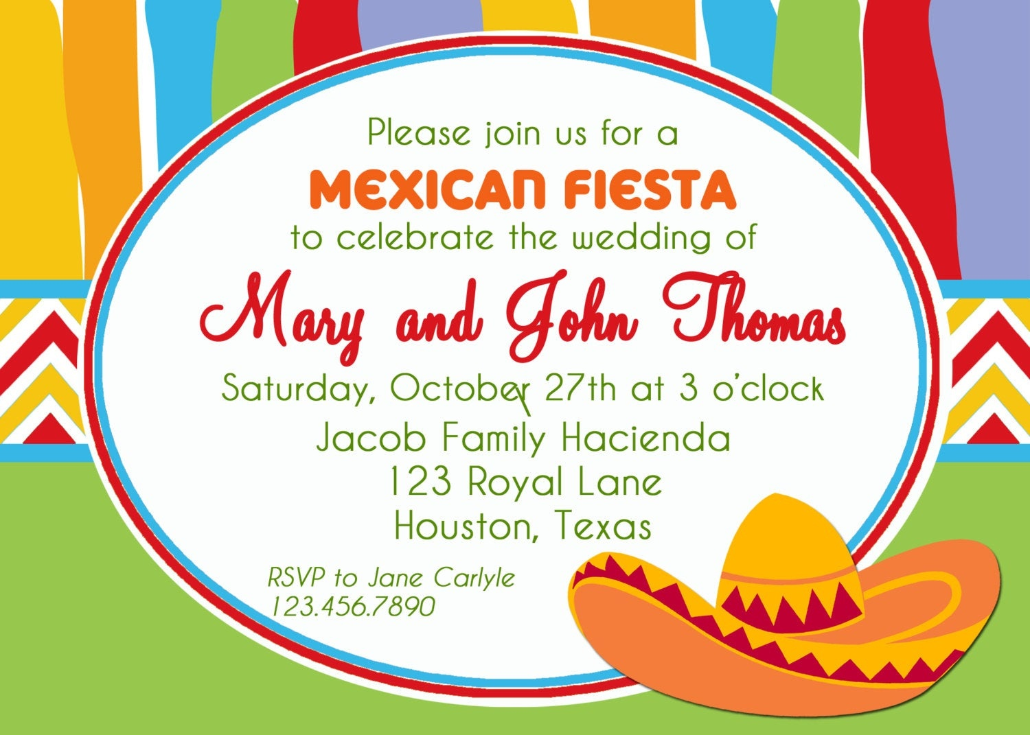 Mexican Fiesta Invitation Printable Or Printed With Free | Etsy - Free Printable Fiesta Invitations