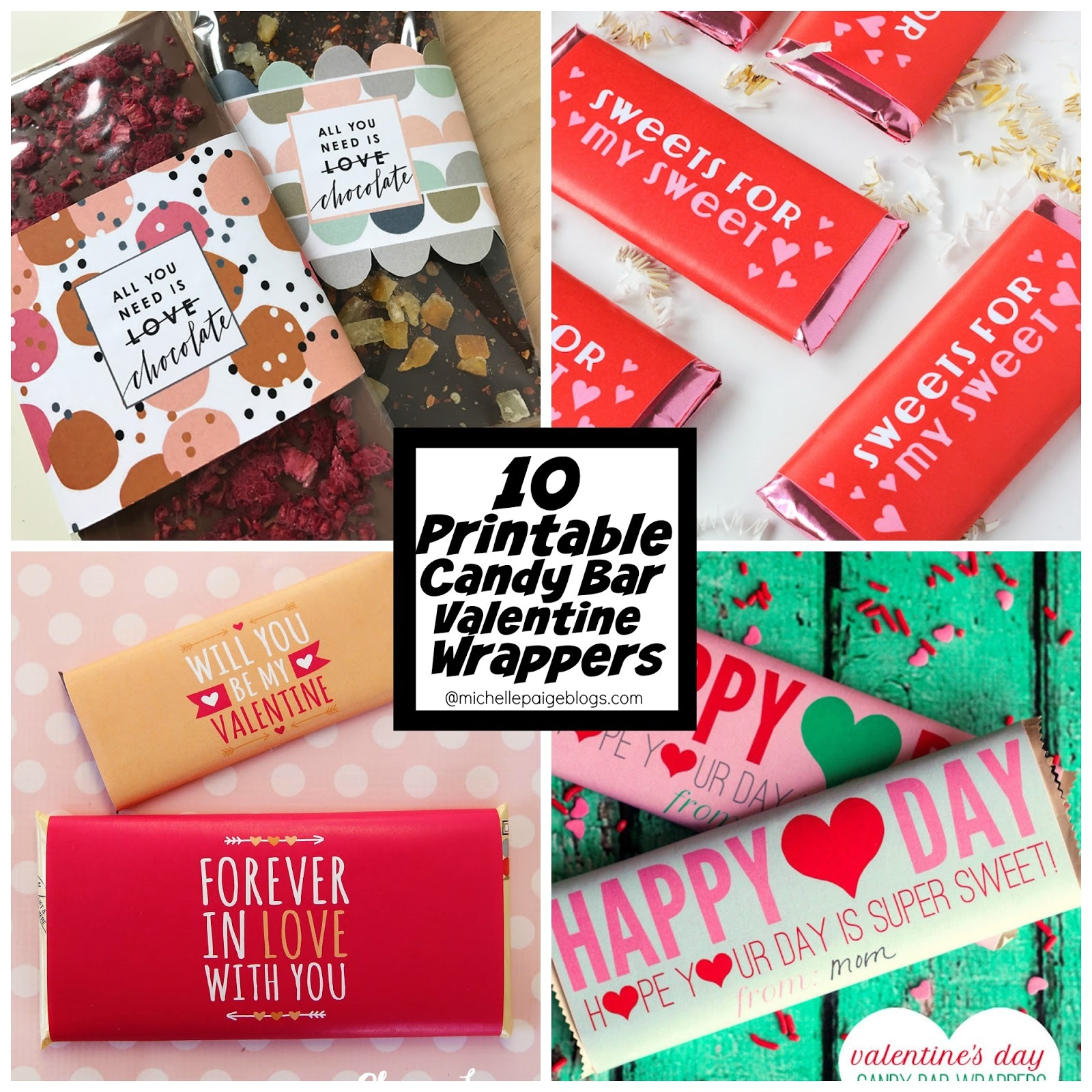 Michelle Paige Blogs: 10 Free Printable Candy Bar Wrapper Valentines - Free Printable Candy Bar Wrappers For Bridal Shower