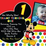 Mickey Mouse 1St Birthday Invitations Ideas | Free Printable   Free Printable Mickey Mouse 1St Birthday Invitations