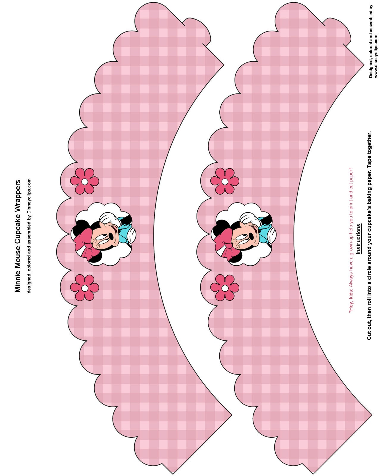 Mickey Mouse And Friends Printables | Disneyclips - Free Printable Minnie Mouse Cupcake Wrappers