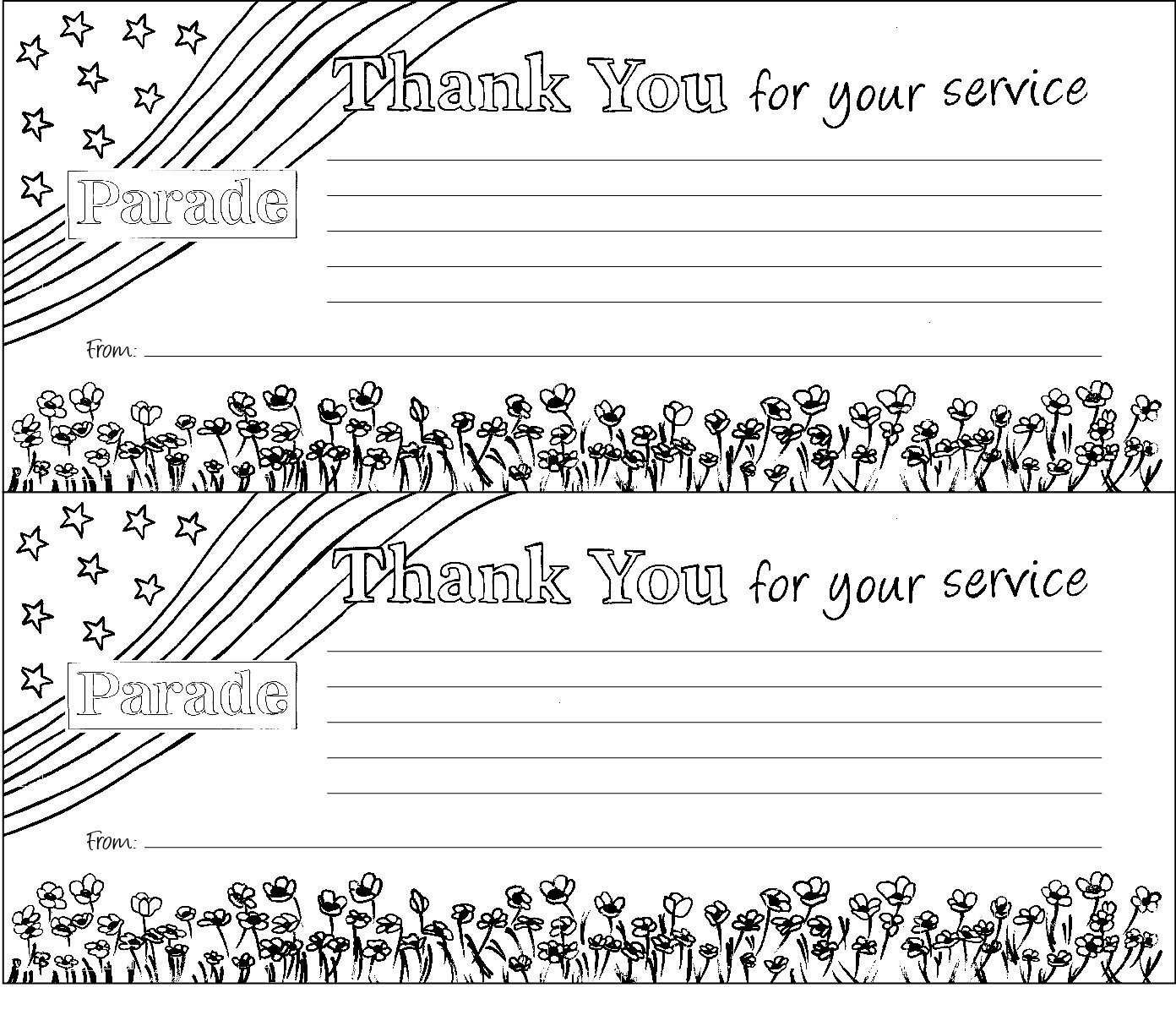 Military Thank You Cards Free Printable (78+ Images In Collection - Military Thank You Cards Free Printable