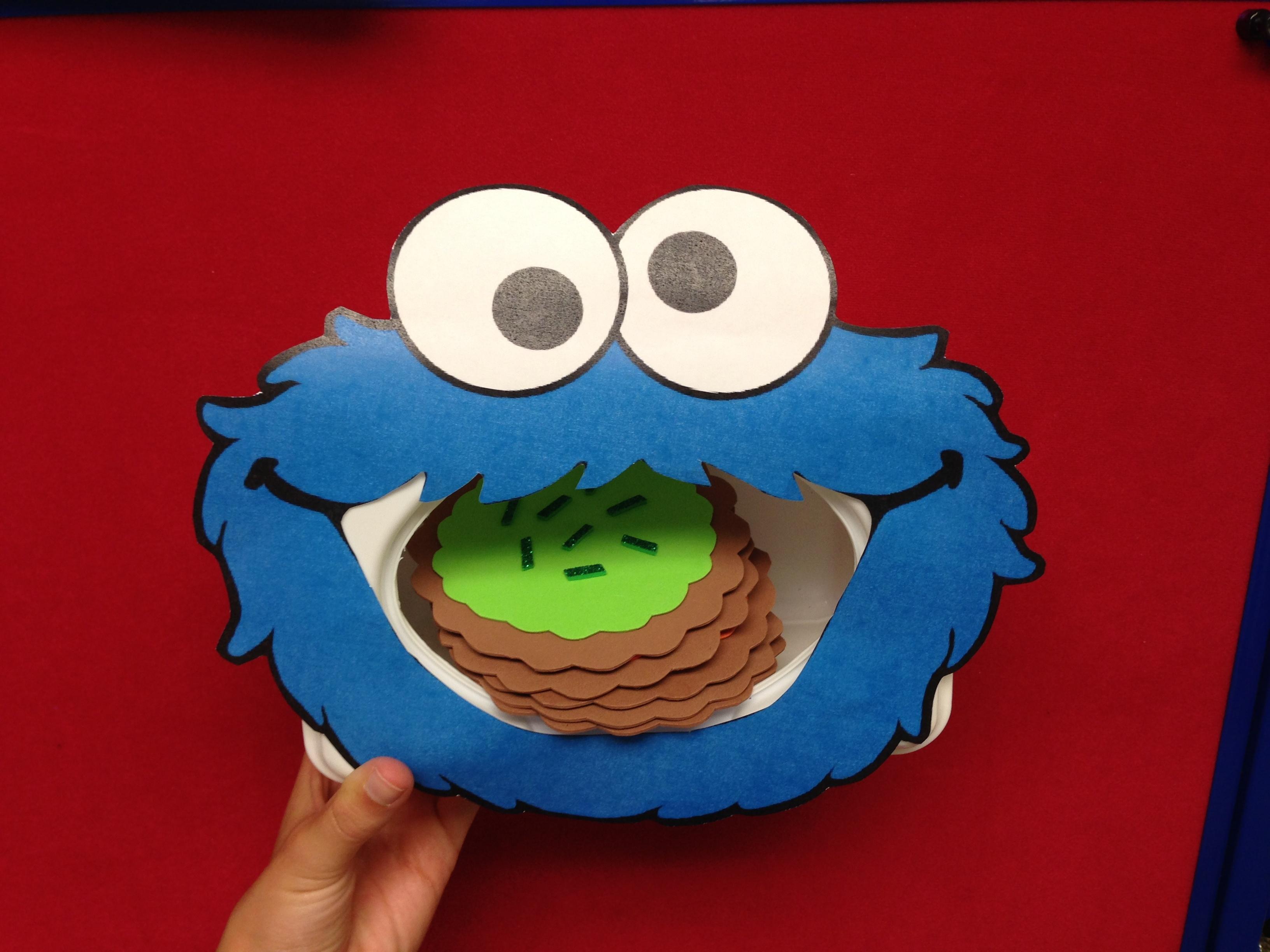 Milk & Cookies | Sunflower Storytime - Free Printable Cookie Monster Face