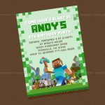Minecraft Birthday Party Invitation Templates   Invitation Templates   Free Printable Minecraft Birthday Party Invitations Templates