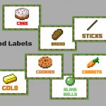 Minecraft Food Labels   Magical Printable   Free Printable Minecraft Food Labels