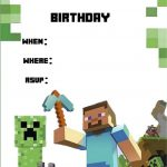 Minecraft Invite | Daan   Minecraft Invitations, Minecraft Birthday   Free Printable Minecraft Birthday Party Invitations Templates