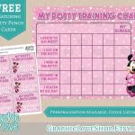 Minnie Mouse Pink Potty Training Chart, Free Punch Cards | Disney   Free Printable Minnie Mouse Potty Training Chart