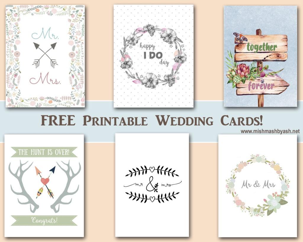 Mishmashash - Graphic Design - Free Printable Wedding Graphics