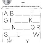 Missing Letter Worksheets (Free Printables)   Doozy Moo   Free Printable Alphabet Worksheets