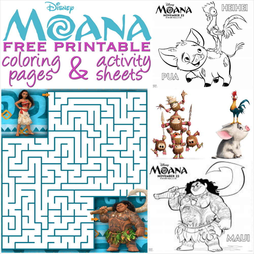 Moana Coloring Pages And Activity Sheets - Over 30 Free Disney - Moana Free Printables