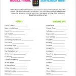 Mobile Phone Scavenger Hunt   Free Printable | A Fierce Flourishing   Free Printable Women's Party Games