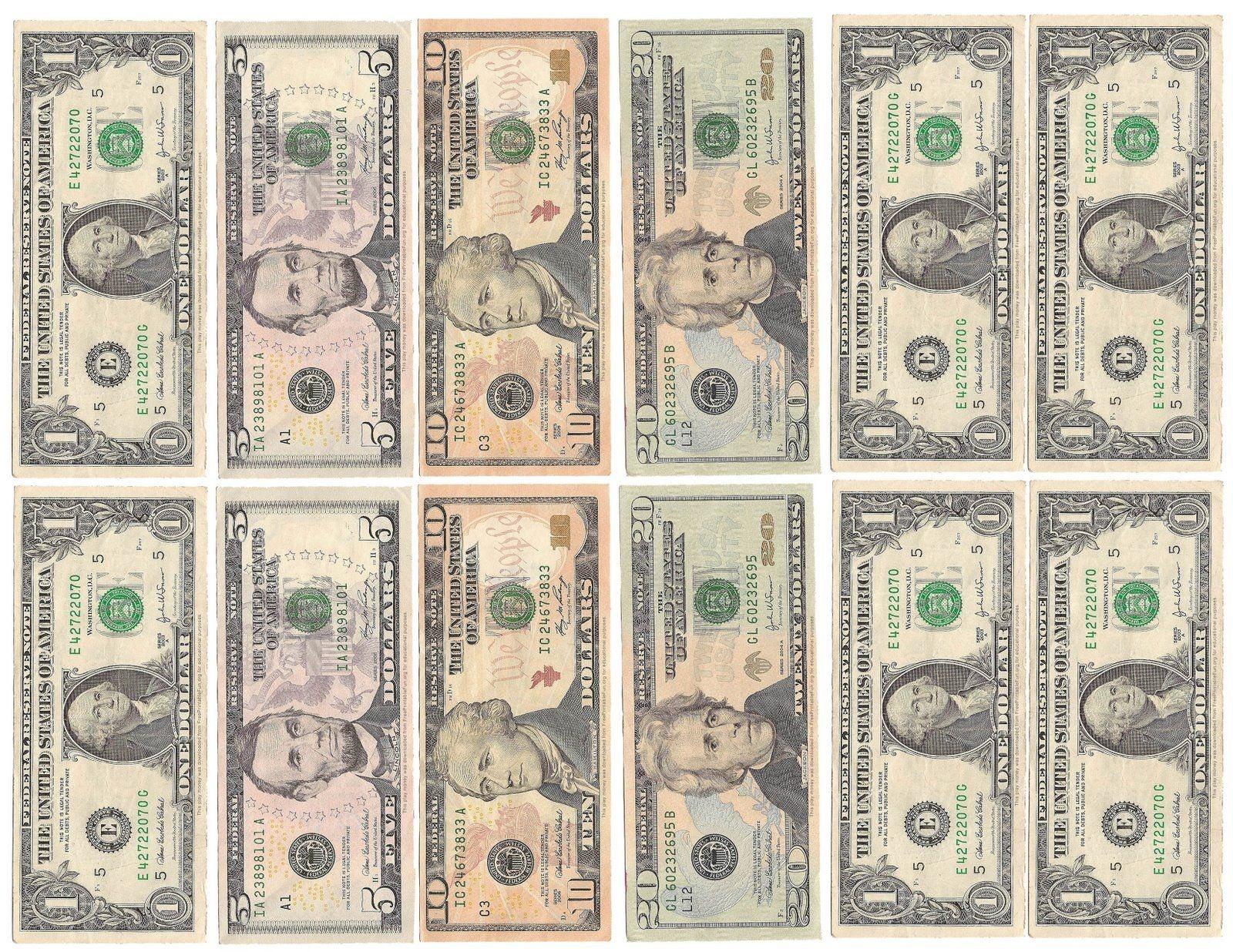Money Money Money! | Kid's Room | Play Money Template, Printable - Free Printable Fake Money That Looks Real