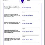 Money Word Problems   Free Printable Word Problems 2Nd Grade