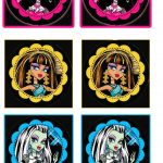 Monster High: Free Printable Cupcake Toppers And Wrappers.   Oh My   Free Printable Monster High Stickers