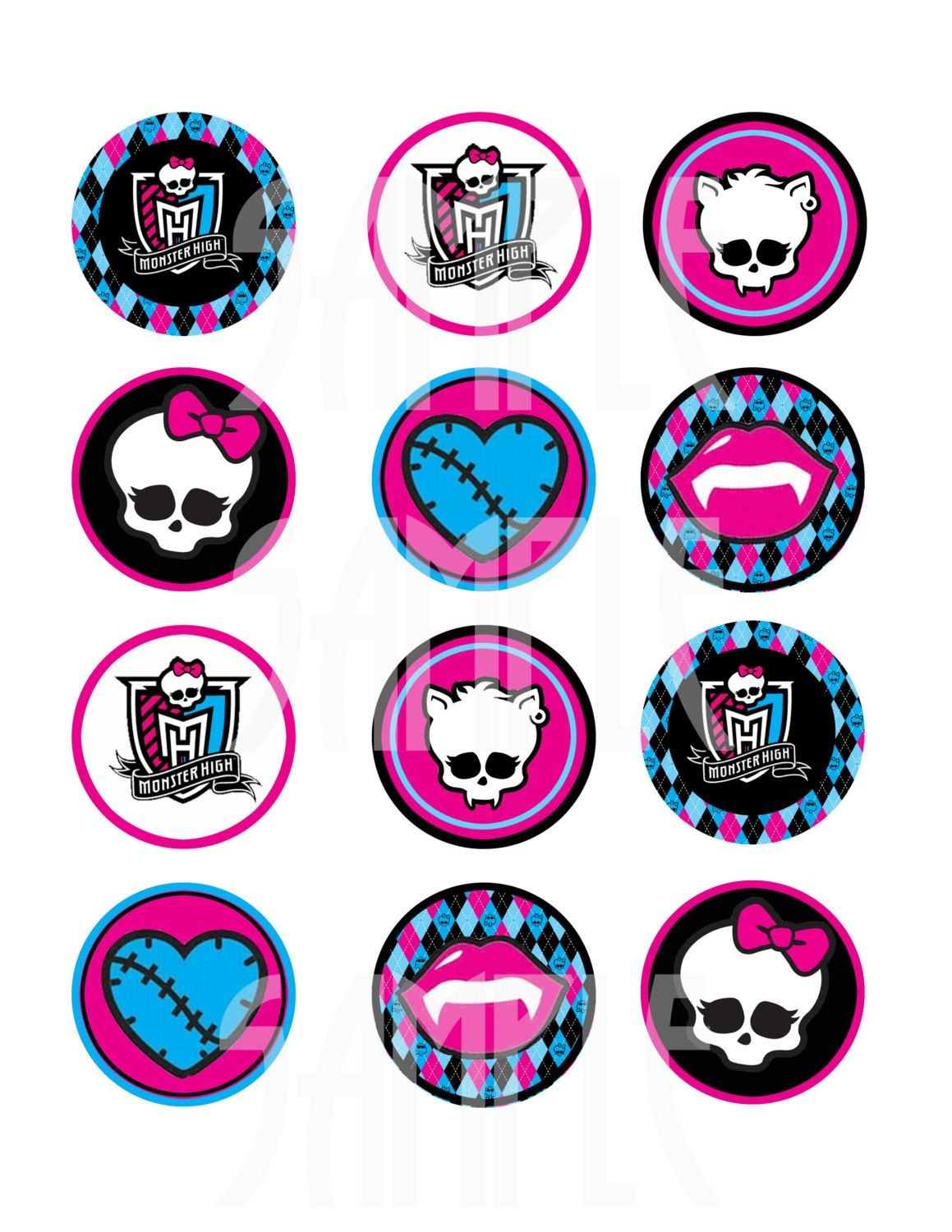Monster High Logo Skull Monster High Logo Printable | Tattoo Ideas - Free Printable Monster High Stickers