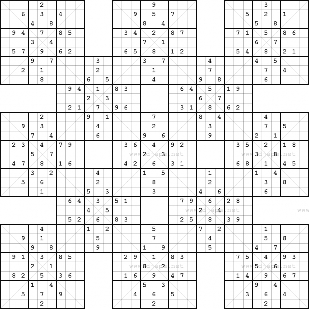 Monster Sudoku 16X16 Printable | Www.topsimages | Printable Monster - Free Printable Super Challenger Sudoku