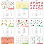 Monthly Printable Calendar 2017 | Clever Ideas | Calendar 2017, Free   Free Printable Agenda 2017