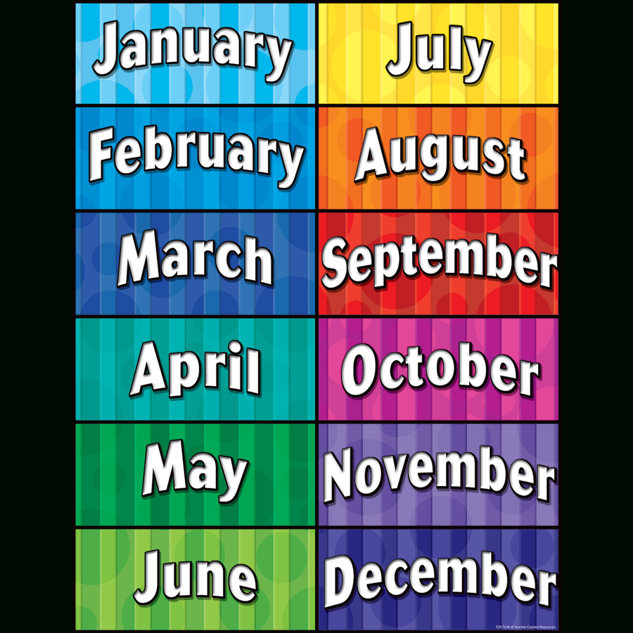 Months Of The Year Chart - Tcr7628 | Teacher Created Resources - Free Printable Months Of The Year Chart