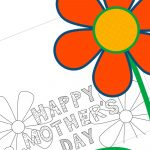 Mother's Day Coloring Card   Sunshine And Rainy Days   Free Printable Funny Mother's Day Cards