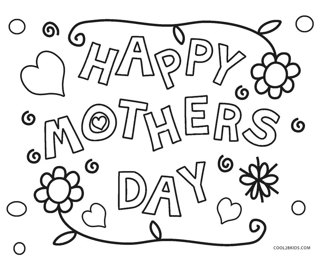 Mothers Day Coloring Pages - Free Printable Mothers Day Coloring - Free Printable Mothers Day Coloring Sheets
