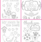 Mother's Day Coloring Pages   Free Printables   Happiness Is Homemade   Free Printable Mothers Day Coloring Pages