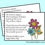 Mother's Day Empty Pot Gift Idea With Free Printable   Printables 4 Mom   Free Printable Mothers Day Poems