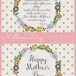 Mother's Day Poem And Free Printables | Live It. Love It. Lds   Free Printable Mothers Day Poems
