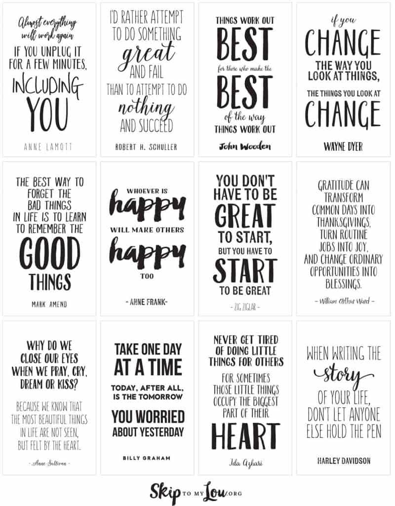 Motivational Quotes To Inspire And Encourage | Skip To My Lou - Free Printable Quote Stencils