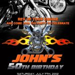 Motorcycle Invitation Printable File Diy   Bike Birthday Invitation   Motorcycle Invitations Free Printable