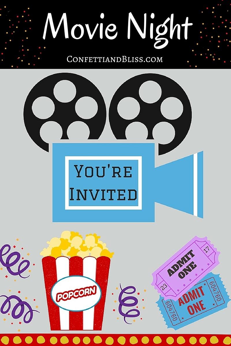 Movie Night Party Ideas + Free Printables | Confetti & Bliss - Free Movie Night Printables