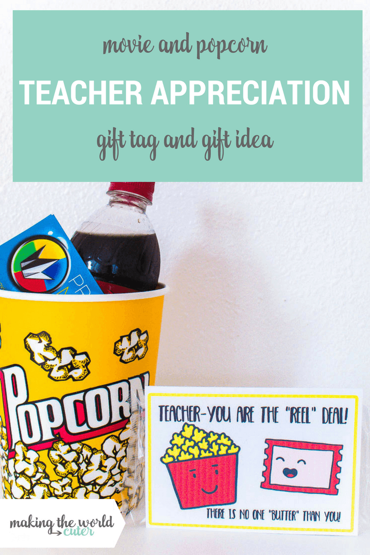 Movie Teacher Appreciation Ideas Free Printable Tag - Free Printable Tags For Teacher Appreciation