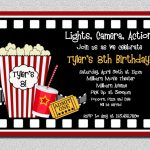 Movie Themed Party Invitations   Party Invitation Collection   Movie Birthday Party Invitations Free Printable