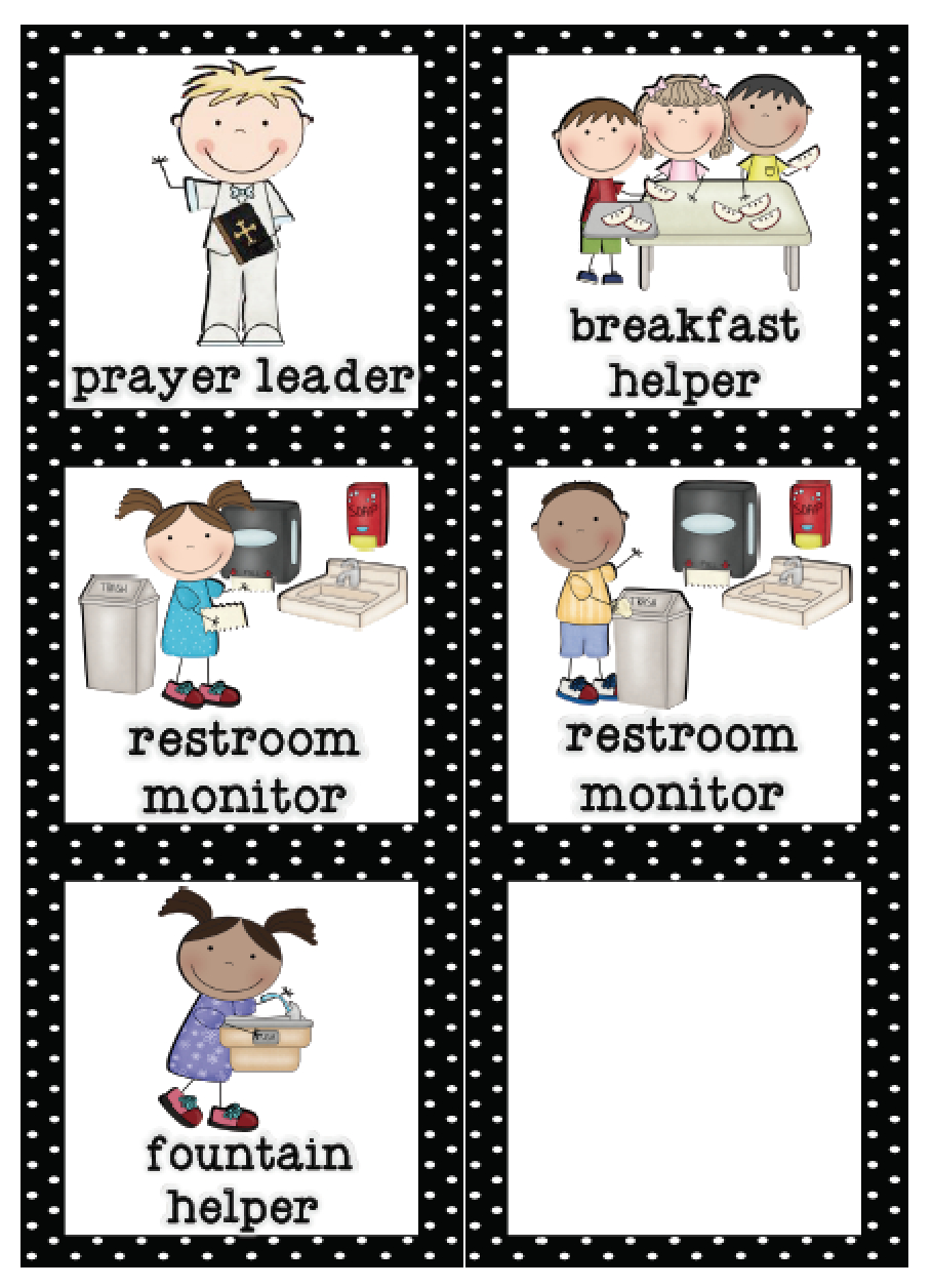 Mrs. Lirette's Learning Detectives: Classroom Helpers Set {Free} - Classroom Helper Chart Free Printables