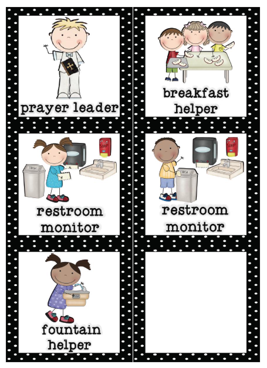 Mrs. Lirette's Learning Detectives: Classroom Helpers Set {Free} - Preschool Classroom Helper Labels Free Printable