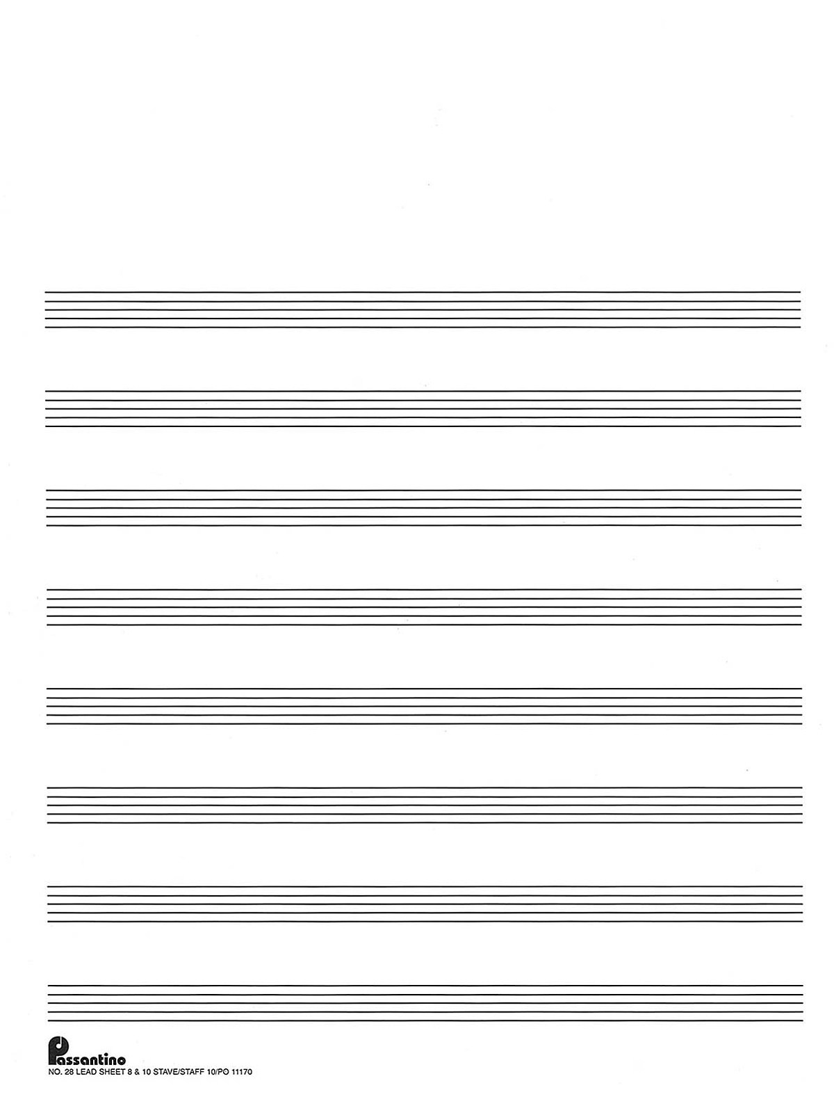 Music Manuscript Template. Printable Staff Bass Clef Music Paper - Free Printable Staff Paper Blank Sheet Music Net