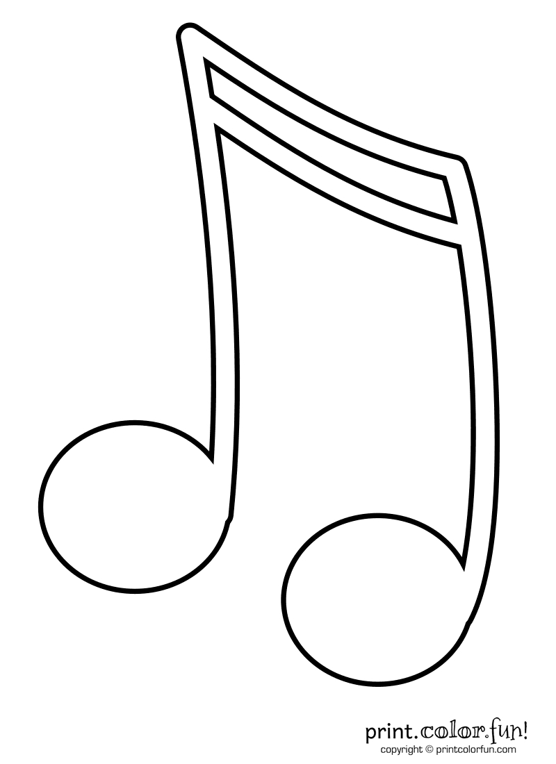 Music Note Coloring Pages | Kids Coloring Pages | Coloring Books - Free Printable Music Notes Templates