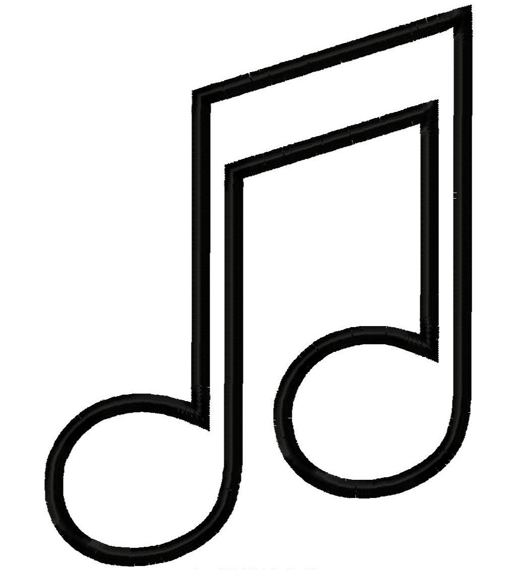 Music Note Outline | Free Download Best Music Note Outline On - Free Printable Music Notes Templates