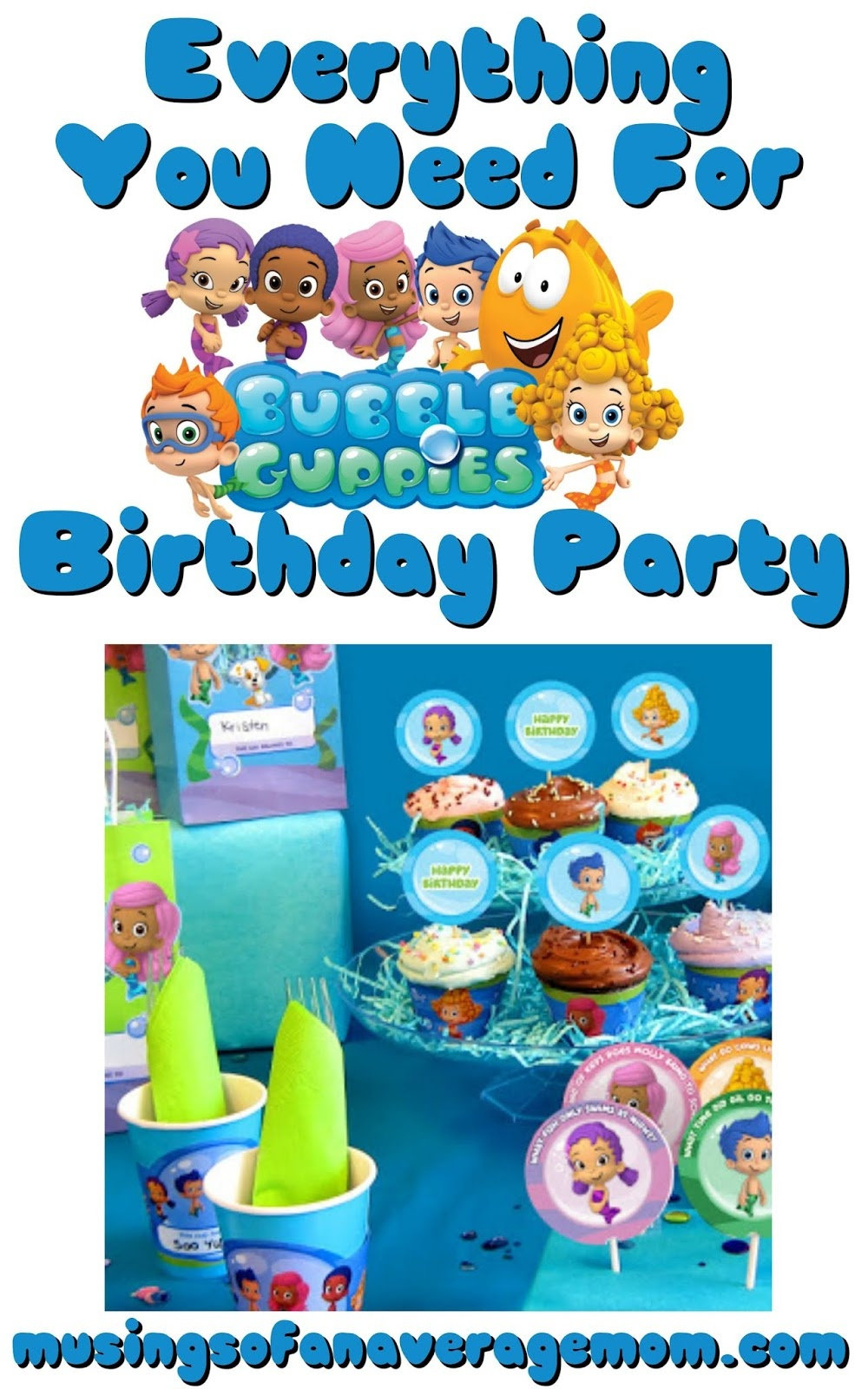 Musings Of An Average Mom: Bubble Guppies Party Printables - Bubble Guppies Free Printables