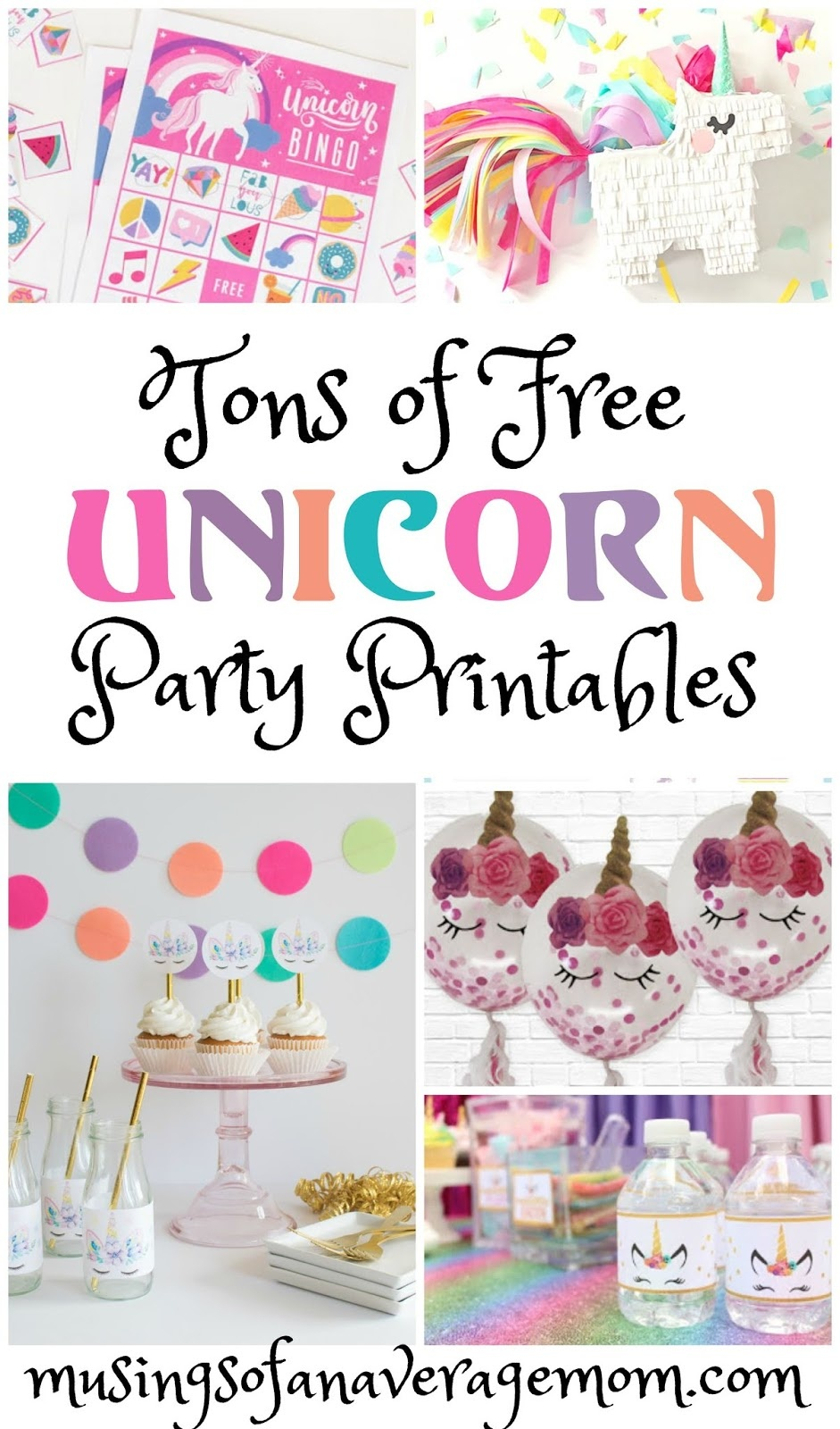 Musings Of An Average Mom: Unicorn Party - Free Unicorn Party Printables