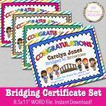My Fashionable Designs: Free Printable Bridging Certificates   Free Bridging Certificate Printable